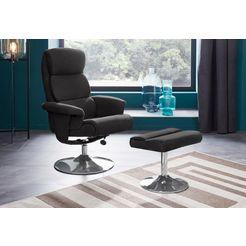 places of style relaxfauteuil boston inclusief hocker, met vele functies, in 2 kleurvarianten te bestellen grijs