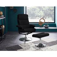 places of style relaxfauteuil boston inclusief hocker, met vele functies, in 2 kleurvarianten te bestellen zwart