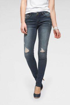 arizona slim fit jeans »met destroyed-effecten« blauw