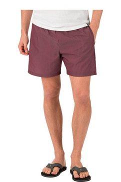 trigema zwembroek-short met streeppatroon grijs
