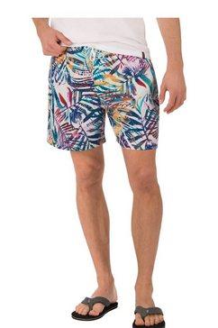 trigema zwembroek-short met streeppatroon wit