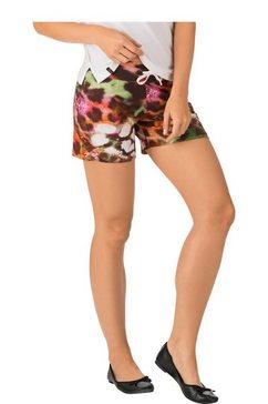 trigema shorts met animalprint zwart