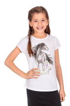 trigema t-shirt met paard wit