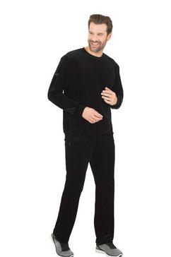 trigema vrijetijdspak van velours zwart