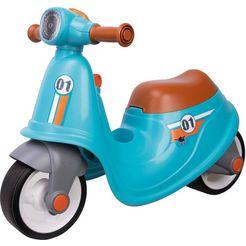big loopfiets big classic scooter sport met geluid blauw