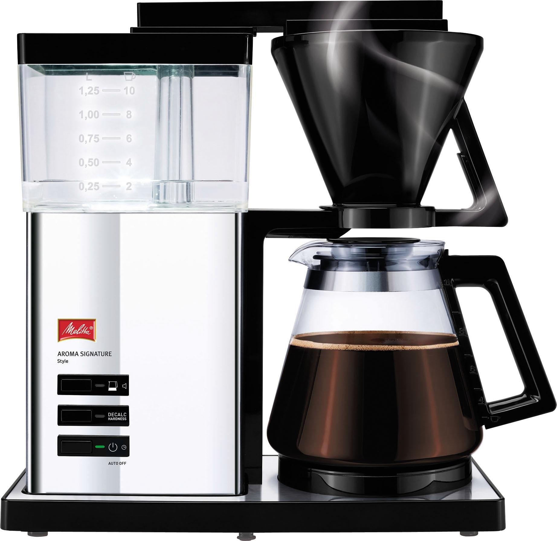 Melitta filterkoffiezetapparaat Aroma Signature Deluxe 100702, koffiekan 1,2 l, papieren filter 1x4 veilig op otto.nl kopen
