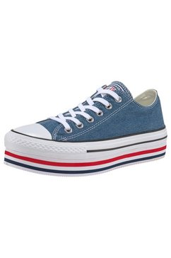 converse plateausneakers »chuck taylor all star platform layer ox« blauw