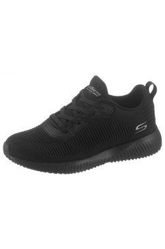 skechers sneakers »bobs squad - touch talk« zwart