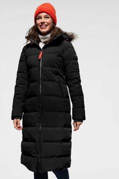 icepeak doorgestikte jas »brilon« zwart
