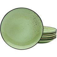 creatable ontbijtbordje 'nature collection' (set van 6) groen