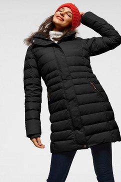 icepeak doorgestikte jas »anamosa« zwart