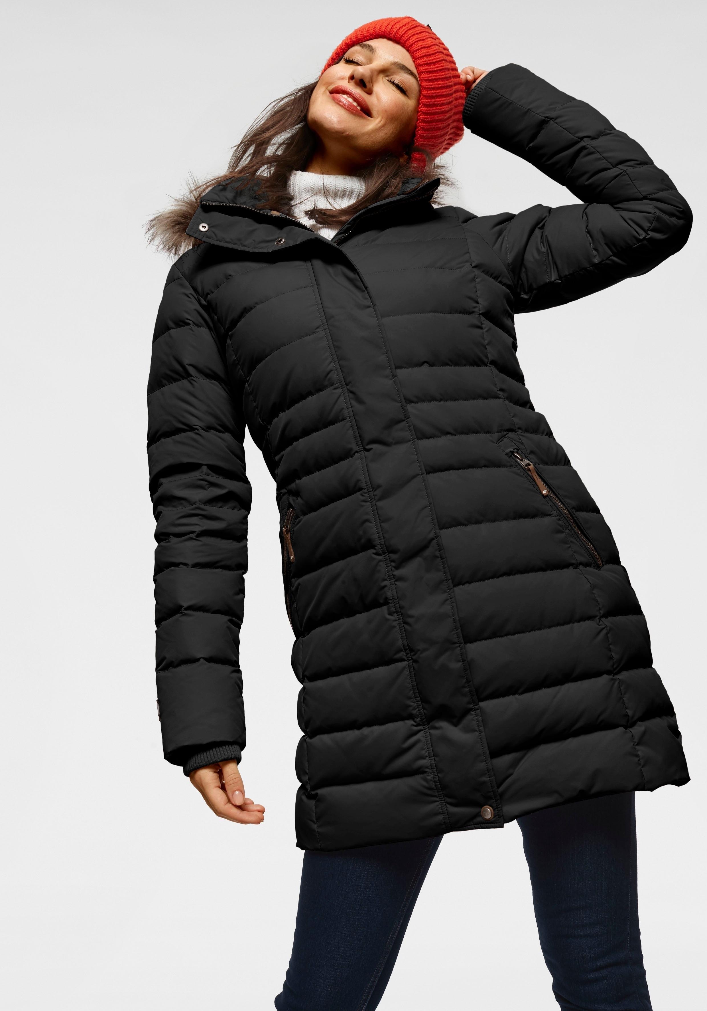 ICEPEAK doorgestikte jas »ANAMOSA« in de webshop van OTTO kopen