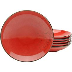 creatable diep bord 'nature collection' (set van 6) rood