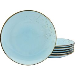 creatable plat bord 'nature collection' (set van 6) blauw