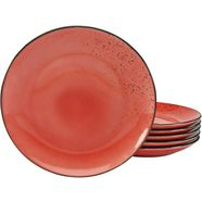 creatable plat bord 'nature collection' (set van 6) rood