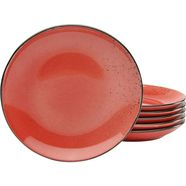 creatable ontbijtbordje 'nature collection' (set van 6) rood