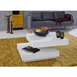 trendteam salontafel met functie, draaibaar tafelblad wit