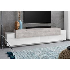 tecnos tv-meubel »corona«, breedte 200 cm grijs