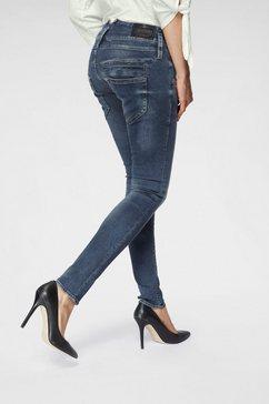 herrlicher slim fit jeans pitch slim low waist powerstretch blauw