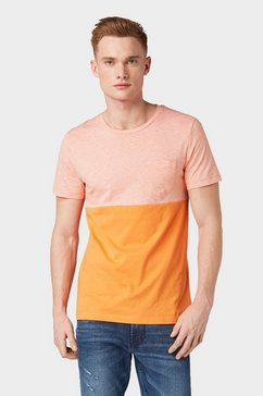 tom tailor denim t-shirt »gestreept t-shirt« oranje