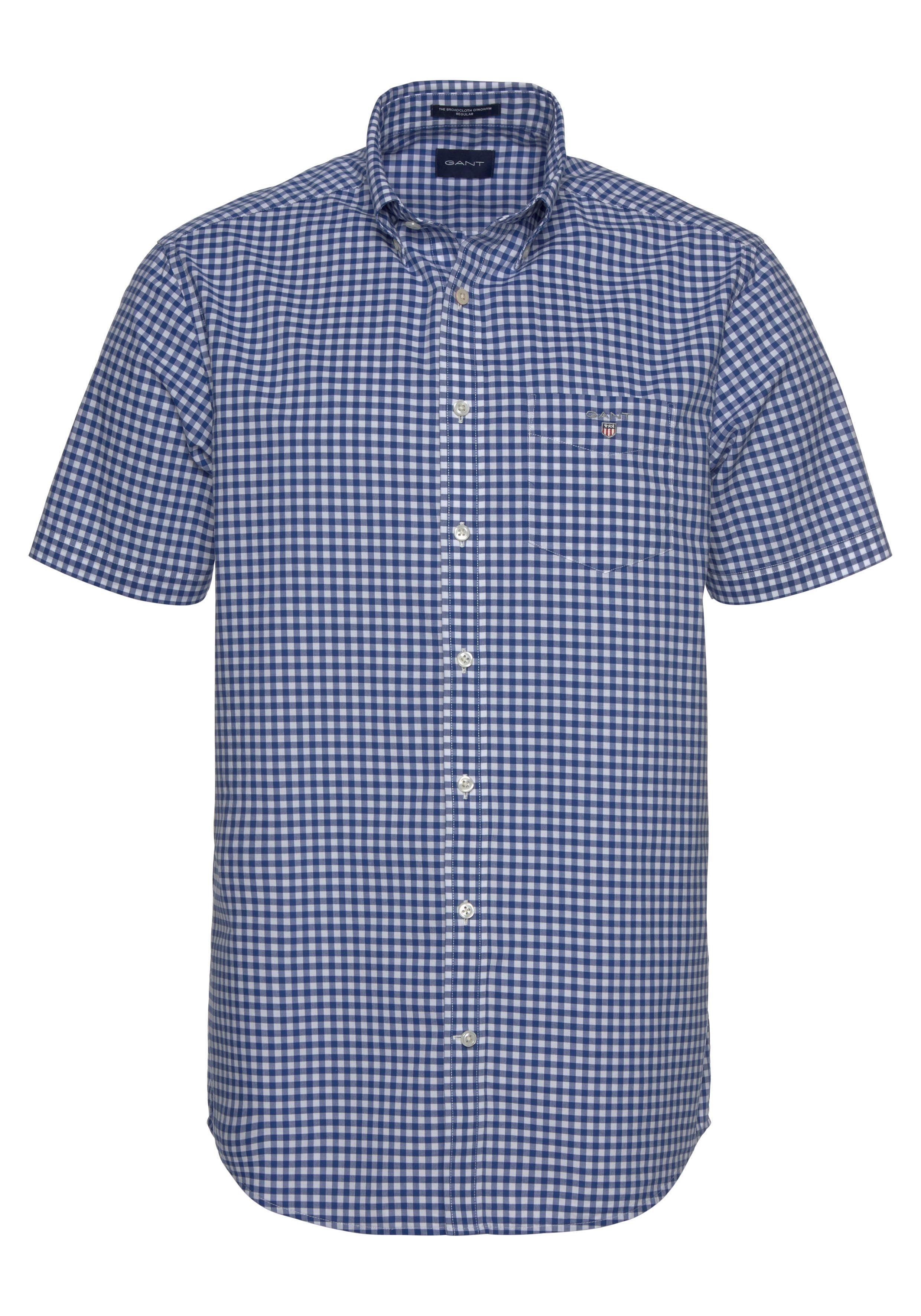 Gant Overhemd Met Korte Mouwen The Broadcloth Gingham Reg Bd Nu Online Bestellen - Geweldige Prijs