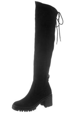 tamaris overknee-laarzen »marielle« zwart