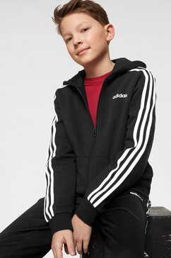 adidas capuchonsweatvest »young boy essential 3 stripes fullzip hoody« zwart
