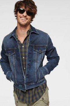 pepe jeans jeansjack »pinner« blauw