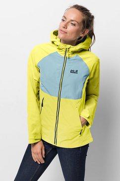 jack wolfskin functioneel jack »mornington jacket w« geel