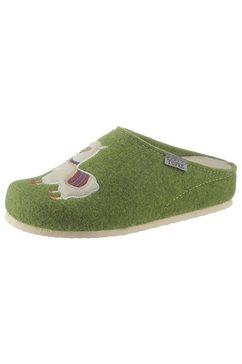 tofee pantoffels met een schattig motief groen
