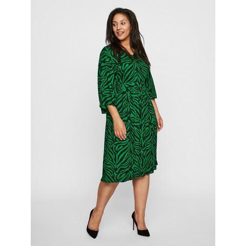 Junarose Bedrukte midi jurk groen