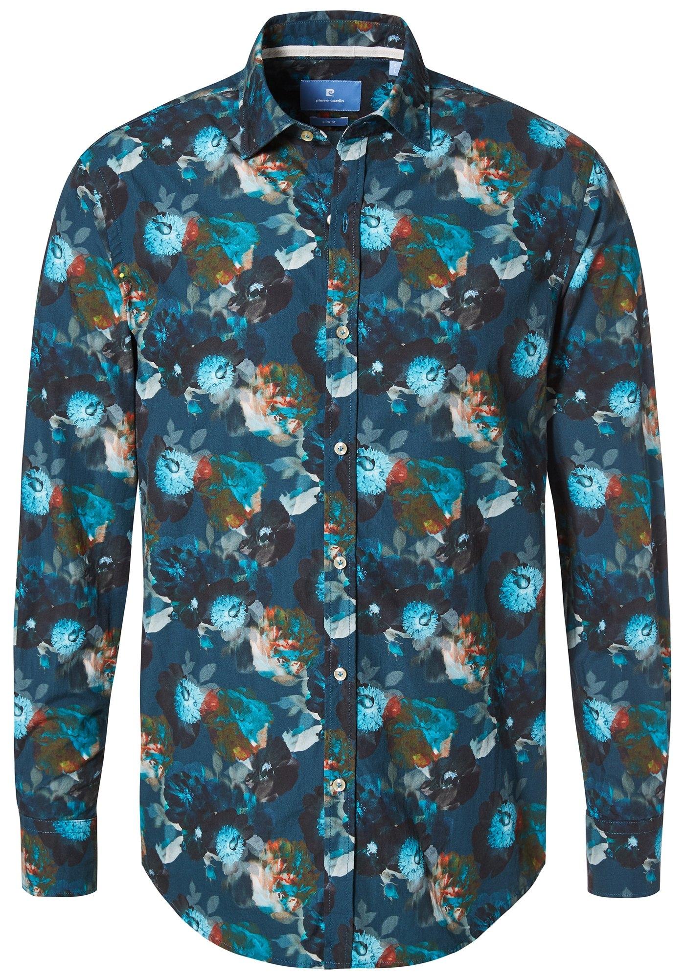 Overhemd Print.Overhemd Met Tropische Print Slim Fit