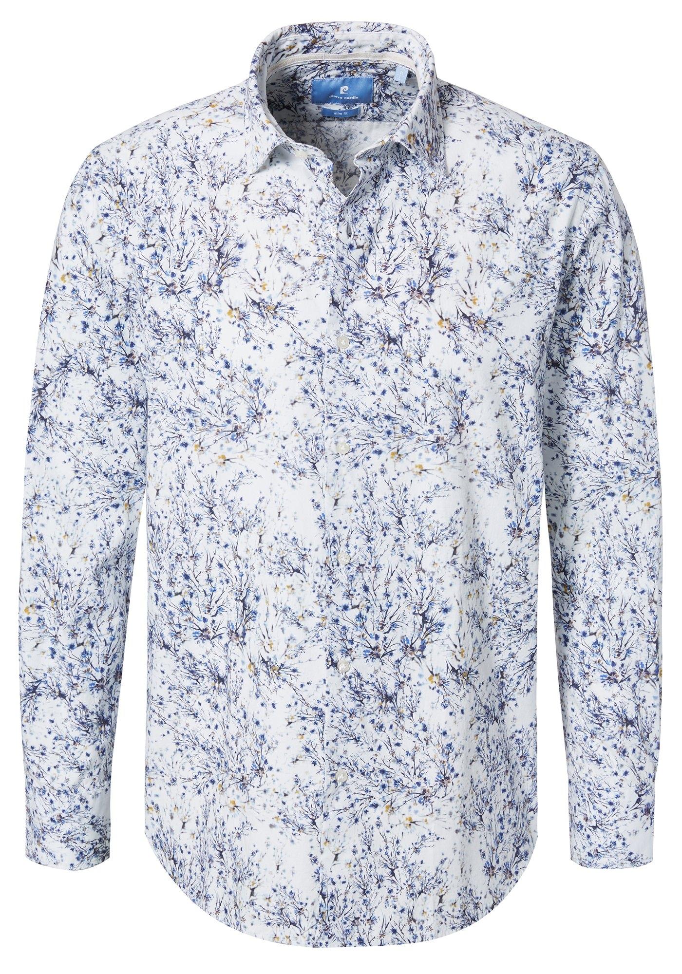 Pierre Cardin Overhemd met meerkleurige bloemenprint - slim fit bestellen: 14 dagen bedenktijd