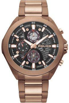 police multifunctioneel horloge »wadden, pl15654jsbn.61m« bruin