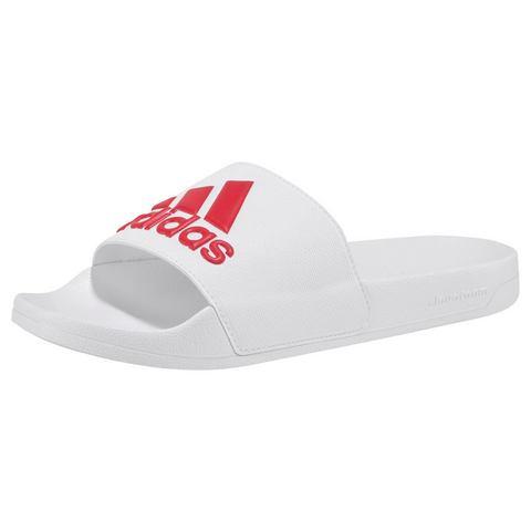 adidas performance Adilette badslippers wit-rood