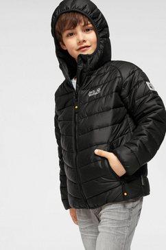 jack wolfskin gewatteerde jas »zenon« zwart
