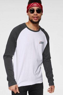 billabong shirt met lange mouwen »super 8 tee ls« wit