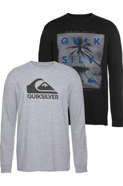 quiksilver longsleeve »outer mw rethin pack« zwart