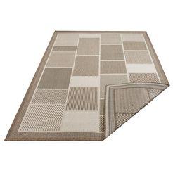 outdoorkleed, »tudor«, home affaire, rechthoekig, hoogte 5 mm, machinaal geweven grijs