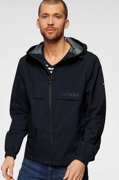 tommy hilfiger outdoorjack tech hooded jacket blauw