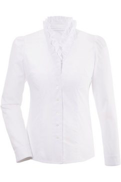 moser folklore-damesblouse in getailleerd model wit