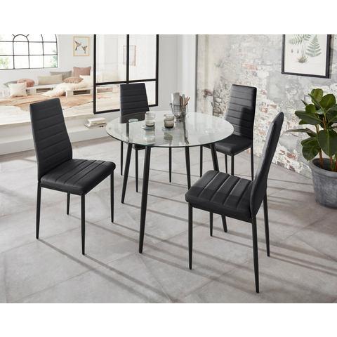 Eethoek Danny met ronde tafel en 4 stoelen