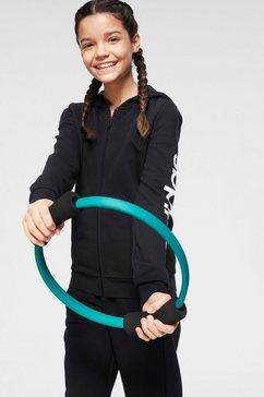 adidas performance capuchonsweatvest »linear kapuzenjacke« zwart