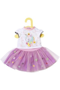 zapf creation poppenkleding 'dolly moda shirt met tutu 39-46 cm' paars