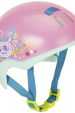 zapf creation poppenaccessoires, »babyborn play  fun fietshelm« roze