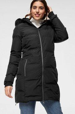 killtec doorgestikte jas callena zwart