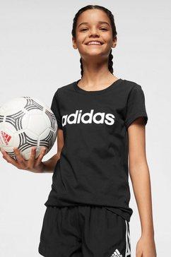 adidas t-shirt »young e linear tee« zwart