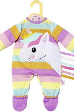 zapf creation poppenkleding 'dolly moda eenhoorn boxpakje 39-46 cm' multicolor