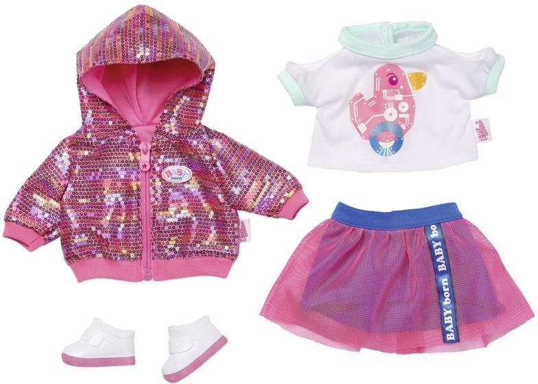Baby Born poppenkleding City Deluxe stijl-outfit met pailletten print online kopen op otto.nl