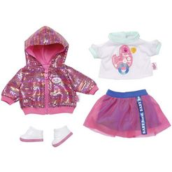 zapf creation poppenkleding 'baby born city deluxe style-outfit' roze